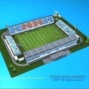soccer stadium med 3d model 3ds dxf c4d obj 85364