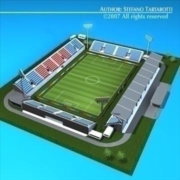 soccer stadium med 3d model 3ds dxf c4d obj 85365