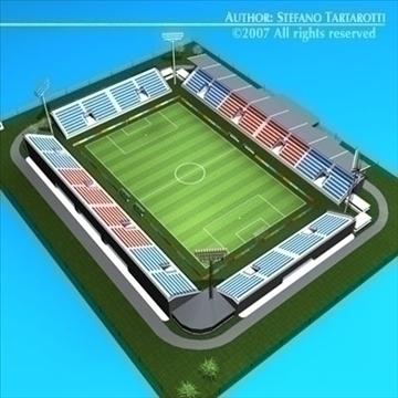 soccer stadium med 3d model 3ds dxf c4d obj 85366