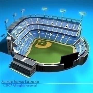 stadion baseball 3d model 3ds dxf c4d obj 85455