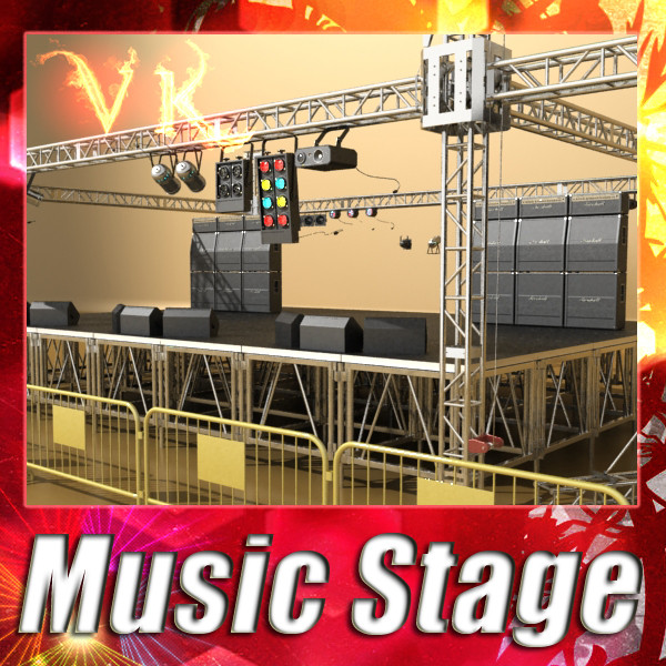 stage equipment mega pack high detail 3d model max fbx obj 131113