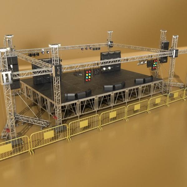 stage equipment mega pack high detail 3d model max fbx obj 131114