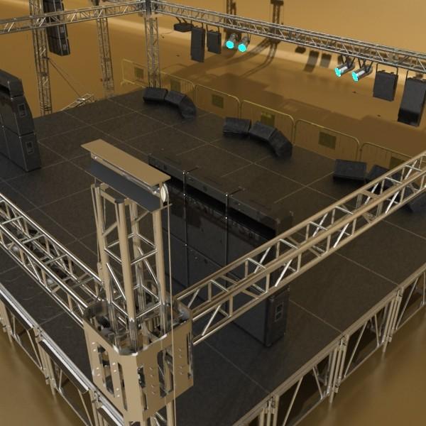 stage equipment mega pack high detail 3d model max fbx obj 131115