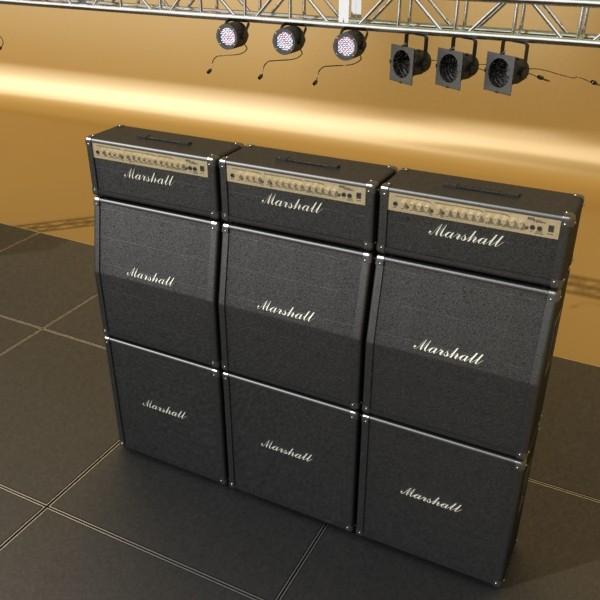 stage equipment mega pack high detail 3d model max fbx obj 131116