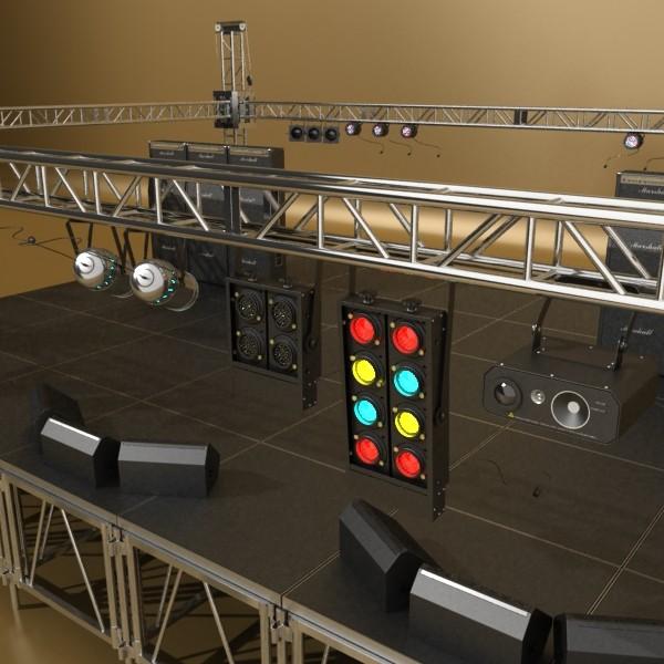 stage equipment mega pack high detail 3d model max fbx obj 131117