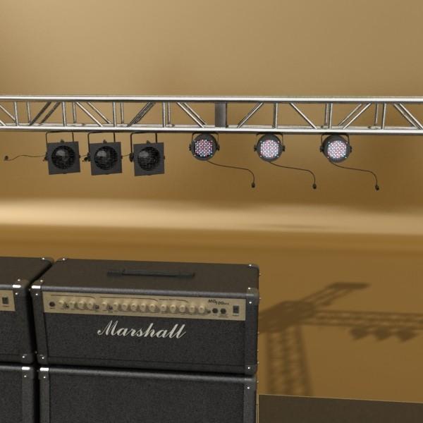stage equipment mega pack high detail 3d model max fbx obj 131118
