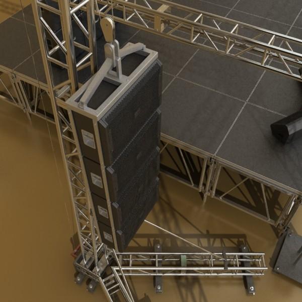 stage equipment mega pack high detail 3d model max fbx obj 131120