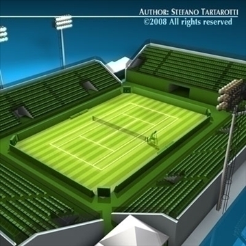 tennis court 3d model 3ds dxf c4d obj 88657