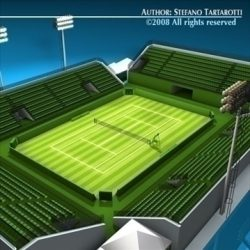 Tennis court ( 107.75KB jpg by tartino )