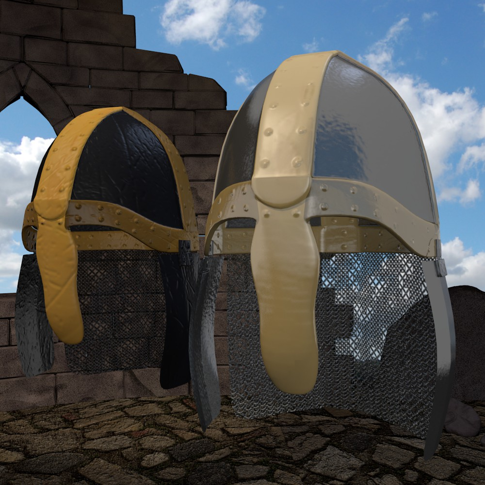 středověká rytířská helma 3d model fbx mix dae obj 118787