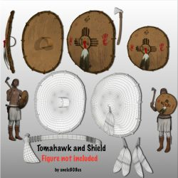 Tomahawk and Shield ( 518.21KB jpg by uncle808us )