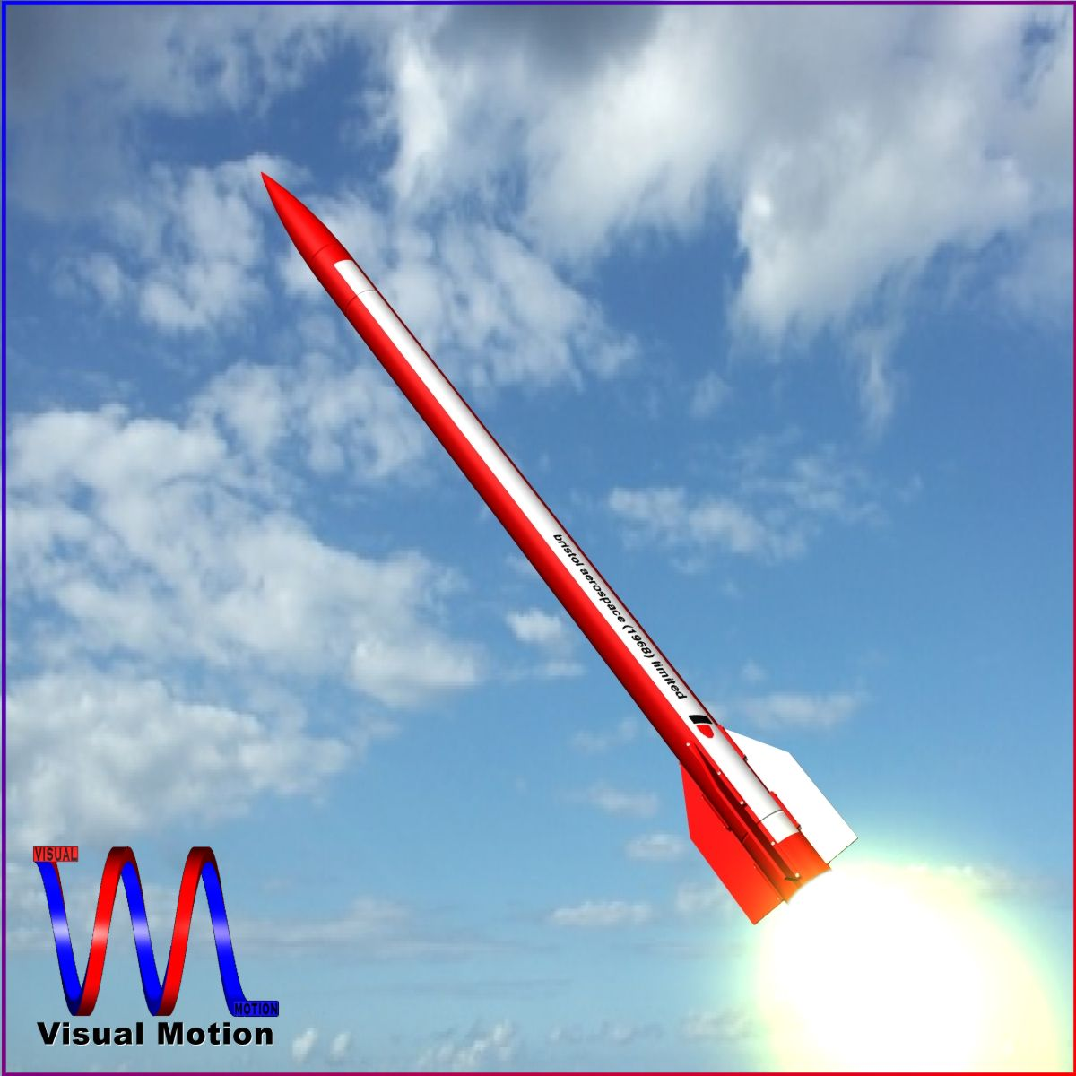 black brant vi sounding rocket 3d model 3ds dxf cob x obj 150671
