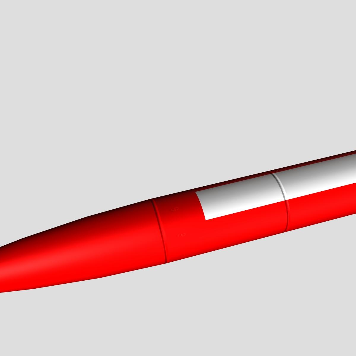 melns brant vi skan raķete 3d modelis 3ds dxf cob x obj 150673