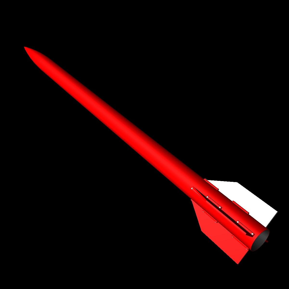 melns brant vi skan raķete 3d modelis 3ds dxf cob x obj 150678
