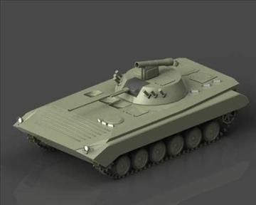 bmp 2 soviet infantry combat vehicle 3d model 3ds max x lwo ma mb obj 111233