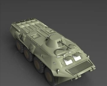 btr 80 soviet armored personnel carrier 3d model 3ds max x lwo ma mb obj 101289