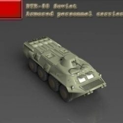 BTR 80 Soviet armored personnel carrier ( 34.49KB jpg by WarArt )