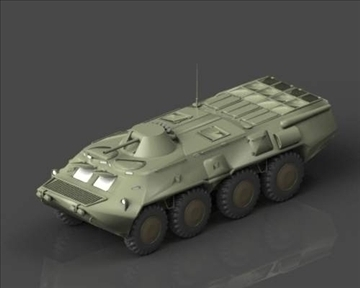 BTR 80 Soviet armored personnel carrier 3d model 3ds max x lwo ma mb obj 101290