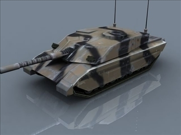sfidant 2 mbt lojë gati 3d model 3ds max 99392