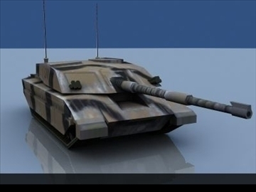 challenger 2 mbt game ready 3d model 3ds max 99395