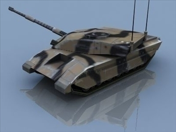challenger 2 mbt game ready 3d model 3ds max 99398