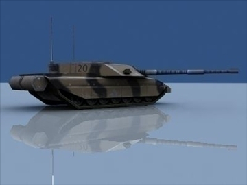 challenger 2 mbt game ready 3d model 3ds max 99399