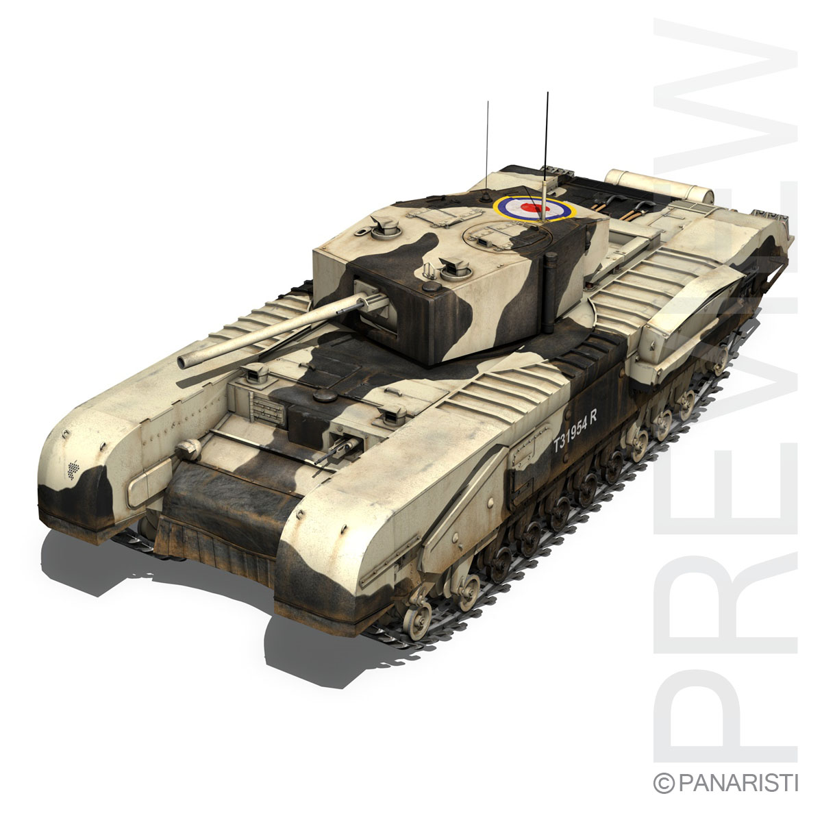Churchill mk.iii kingforce 3d model 3ds c4d lwo obj 150501