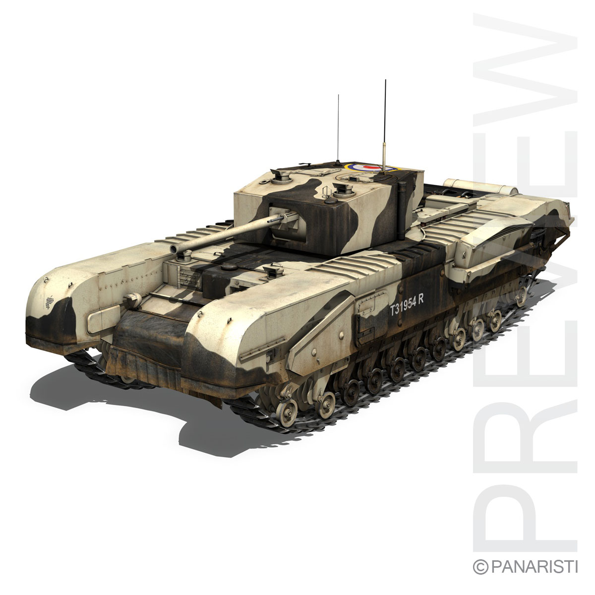 churchill mk.iii kingforce 3d model 3ds c4d lwo obj 150502