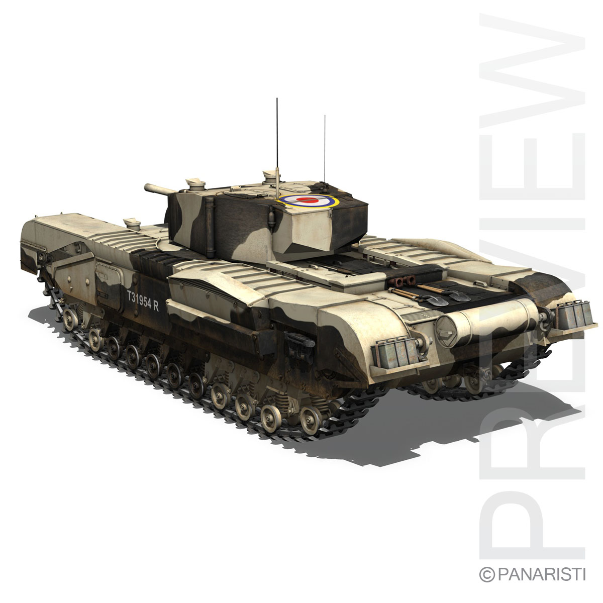 churchill mk.iii kingforce 3d model 3ds c4d lwo obj 150503