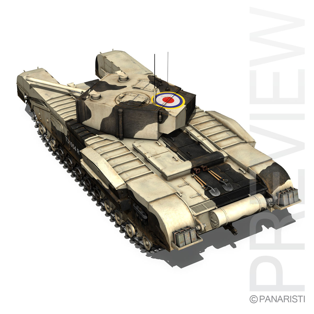 churchill mk.iii kingforce 3d model 3ds c4d lwo obj 150504