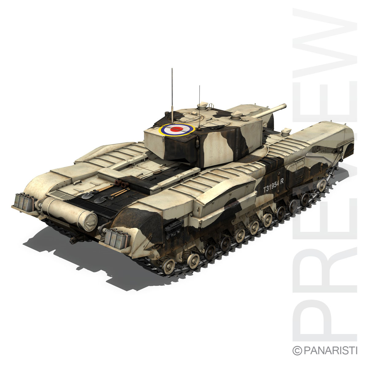 churchill mk.iii kingforce 3d model 3ds c4d lwo obj 150505