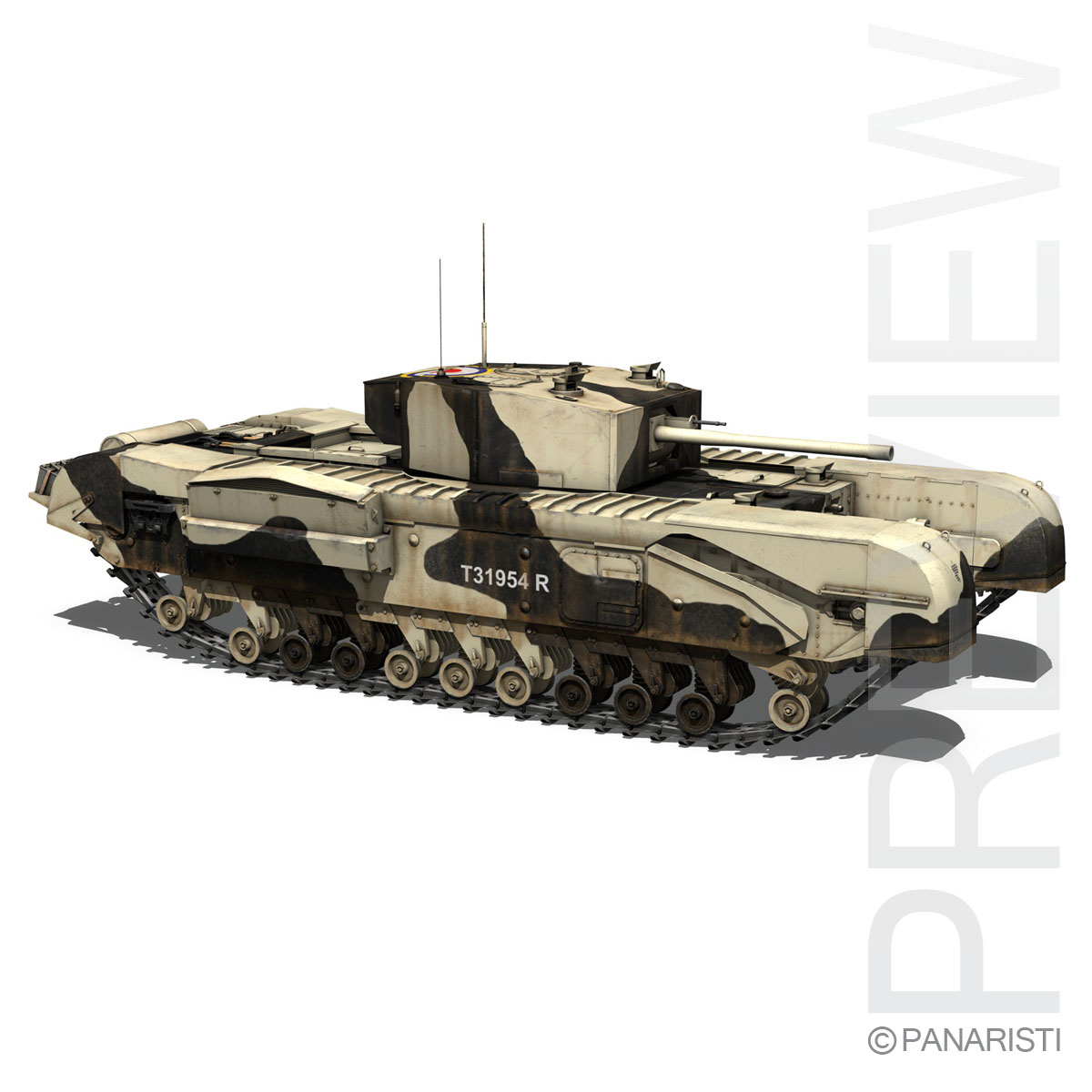 churchill mk.iii kingforce 3d model 3ds c4d lwo obj 150506