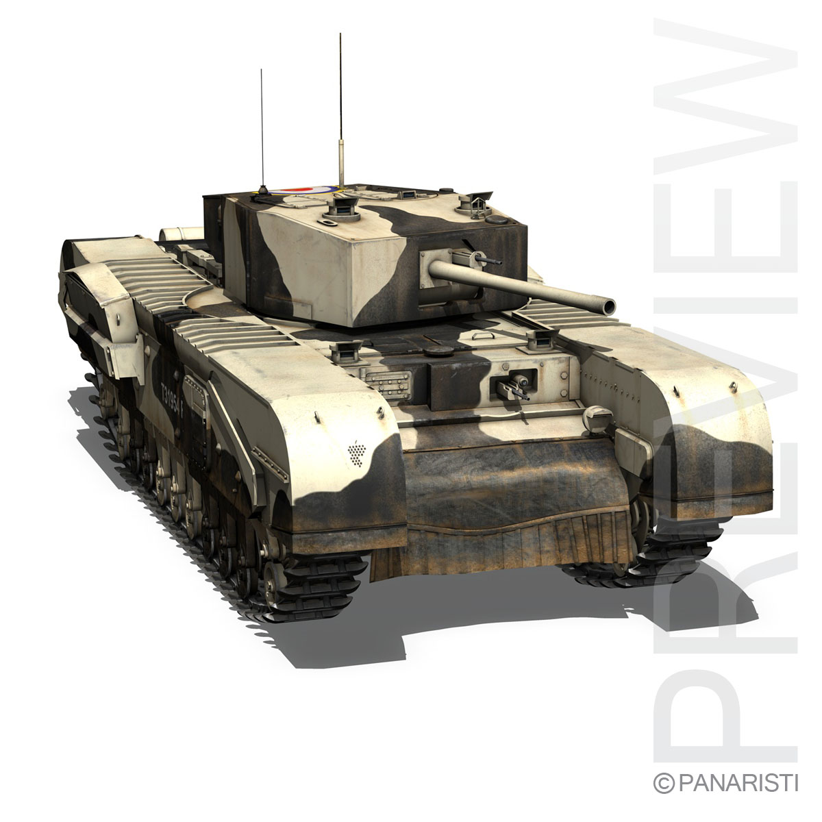 churchill mk.iii kingforce 3d model 3ds c4d lwo obj 150507