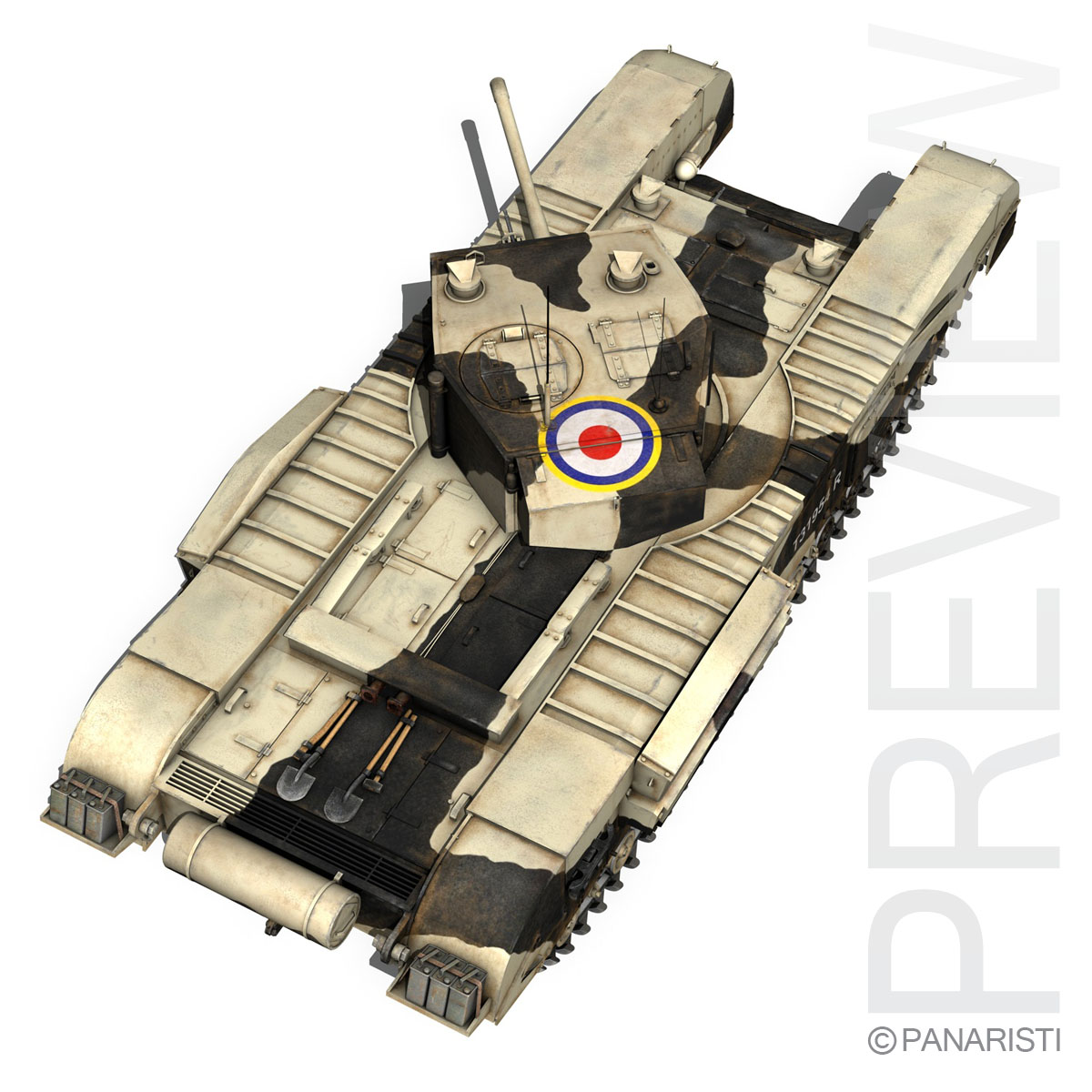 churchill mk.iii kingforce 3d model 3ds c4d lwo obj 150508