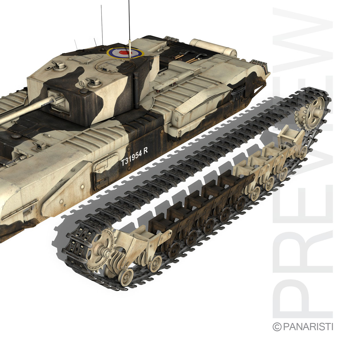 churchill mk.iii kingforce 3d model 3ds c4d lwo obj 150509