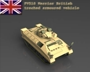fv510 warrior tracked armoured vehicle 3d model 3ds max x lwo ma mb mpg mpeg 101382