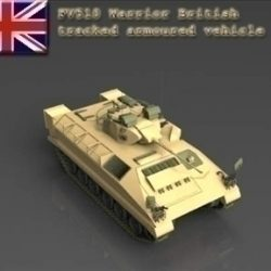 FV510 Warrior tracked armoured vehicle ( 46.21KB jpg by WarArt )