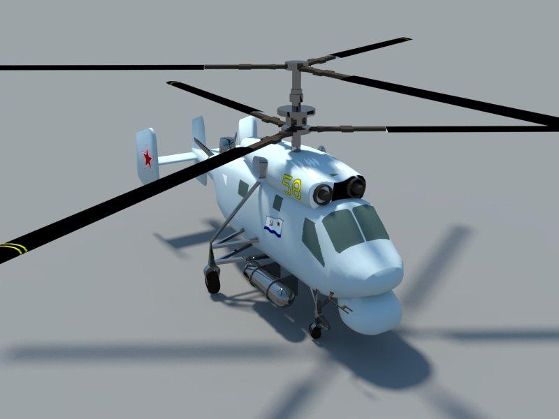 helicopter kamov ka-25 3d model 3ds dxf dwg skp obj 163572