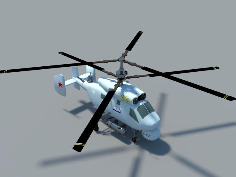 helicopter kamov ka-25 3d model 3ds dxf dwg skp obj 163573