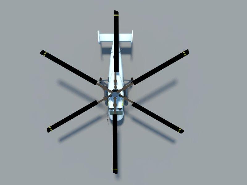 helicopter kamov ka-25 3d model 3ds dxf dwg skp obj 163575
