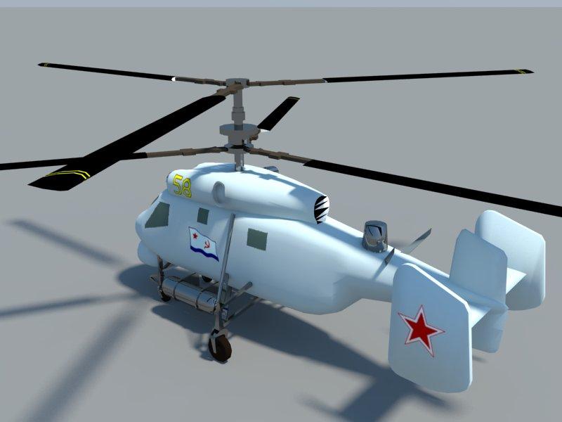 helicopter kamov ka-25 3d model 3ds dxf dwg skp obj 163576