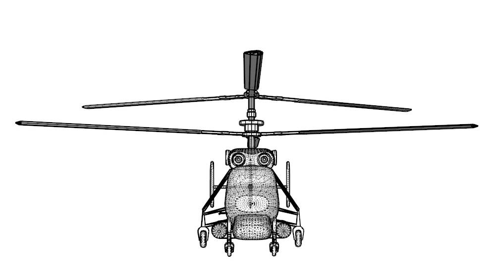helicopter kamov ka-25 3d model 3ds dxf dwg skp obj 163578
