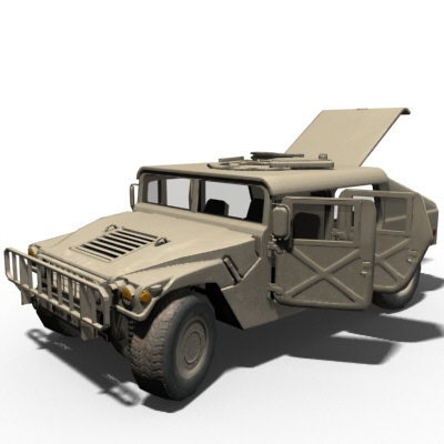 hmmwv (military humvee) normal mapped 3d model max 159154