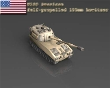 m 109 samohodni 155 mm haubica 3d model 3ds max x lwo ma mb obj 101426
