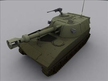 m109 sph artillery 3d model 3ds max fbx obj 99261