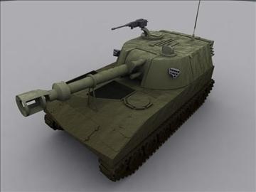 m109 sph artillery 3d model 3ds max fbx obj 99262