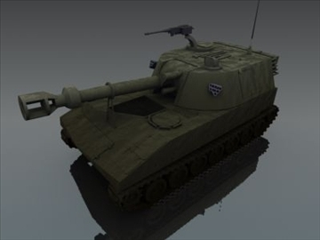 m109 sph artillery 3d model 3ds max fbx obj 99263