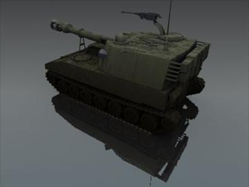 m109 sph artillery 3d model 3ds max fbx obj 99264