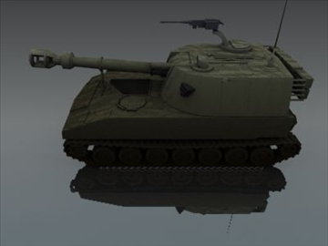 m109 sph artillery 3d model 3ds max fbx obj 99265