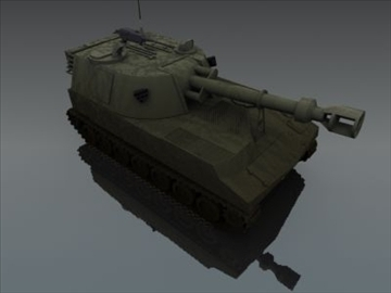 m109 sph artillery 3d model 3ds max fbx obj 99266